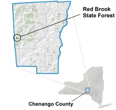 Red Brook State Forest locator map