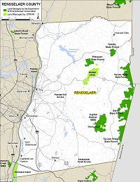 map of Rensselaer County