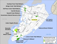 recreation lands map for Richmond County (Staten Island)
