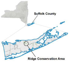 Ridge Conservation Area locator map