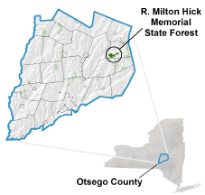 R. Milton Hick Memorial State Forest locator map