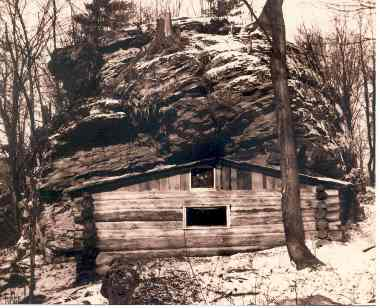 Old cabin in the rocks, around late 1930's