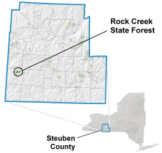Rock Creek State Forest locator map
