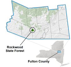 Rockwood State Forest locator map