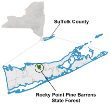 Rocky Point locator map