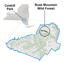 Rusk Mountain Wild Forest locator map