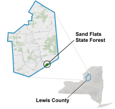 Sand Flats State Forest locator map