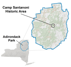 Camp Santanoni Locator Map