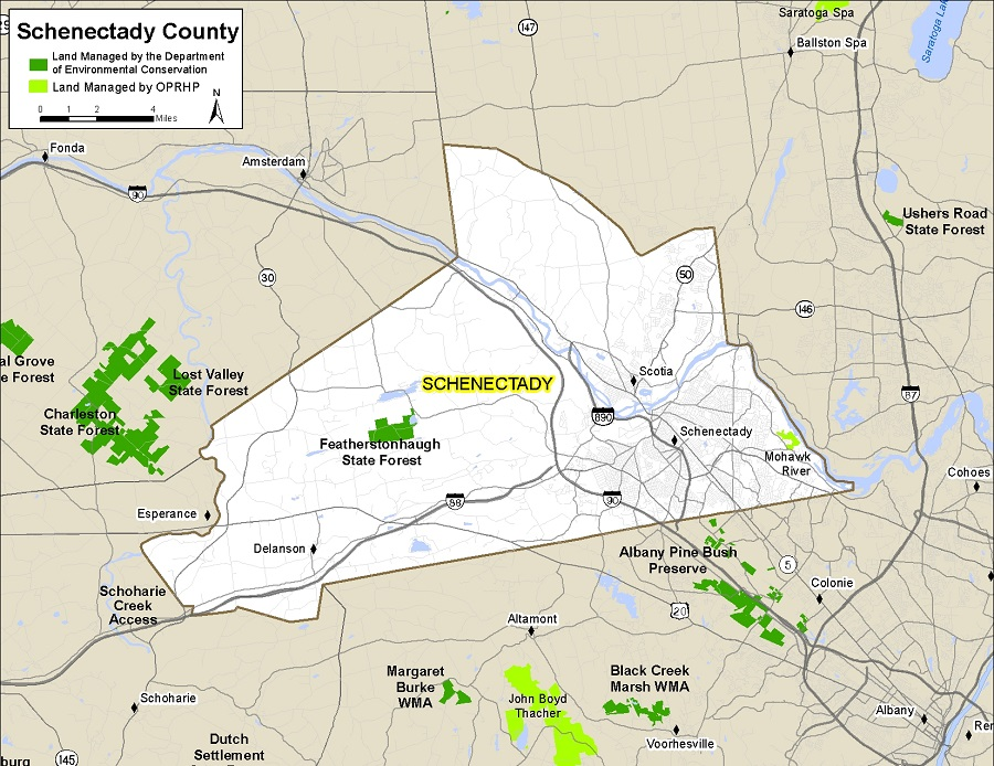 Schenectady County Map NYS Dept of Environmental Conservation