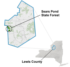 Sears Pond State Forest locator map