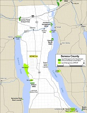small map of Seneca County