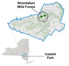 Shandaken Wild Forest locator map