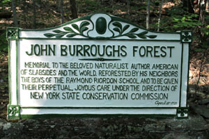 A memorial plaque to John Burroughs