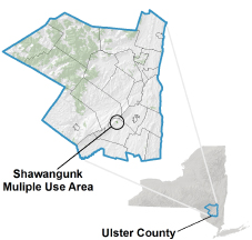 Shawangunk Multiple Use Area locator map