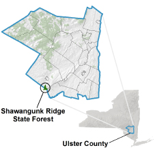 Shawangunk Ridge State Forest locator map