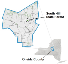 South Hill State Forest locator map