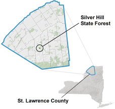 Silver Hill State Forest Locator Map