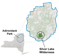 Silver Lake Wilderness locator map