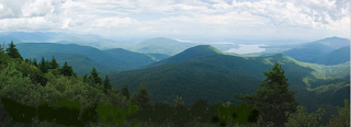 View of the Slide Mountain Wilderness area