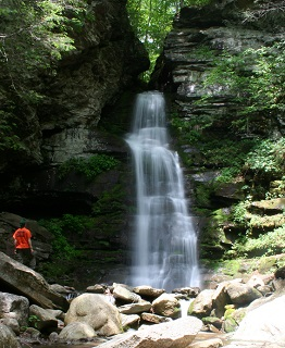 Buttermilk Falls located near the Peekamoose Parking Area