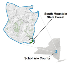 South Mountain State Forest locator map
