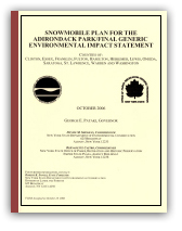 The cover of the Snowmobile Plan final GEIS