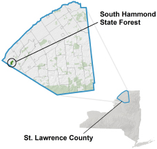 South Hammond State Forest locator map