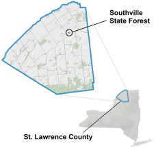 Southville State Forest locator map