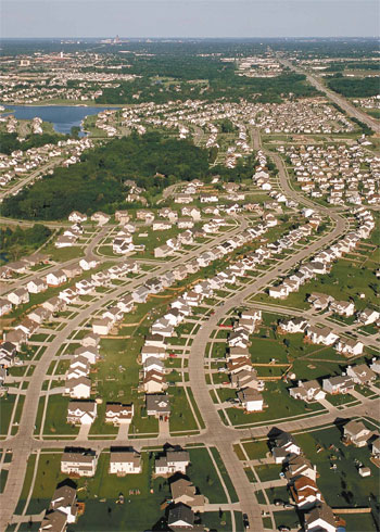 Sprawl development consumes more acreage per household