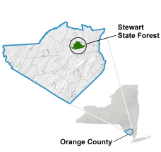 Stewart State Forest locator map