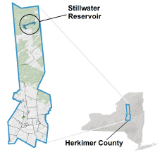 Stillwater Reservoir locator map