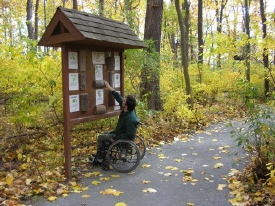 An accessible path at Stony Kill Farm Environmental Education Center