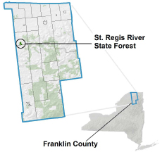 St. Regis River State Forest locator map