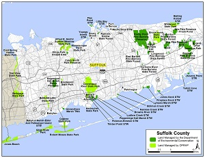 Map of western Suffolk County