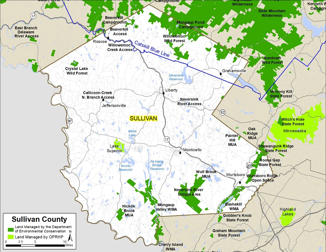 sullivan county. sullivan county map  nys dept of environmental conservation