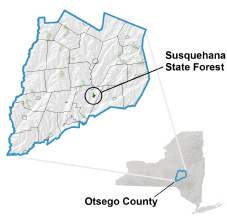 Susquehana State Forest locator map