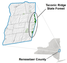Taconic Ridge State Forest locator map