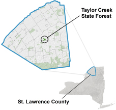 Taylor Creek State Forest Locator Map