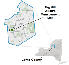 Tug Hill WMA Locator Map