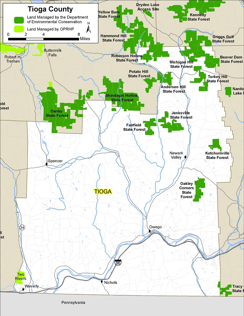 Tioga County Map - NYS Dept. of Environmental Conservation