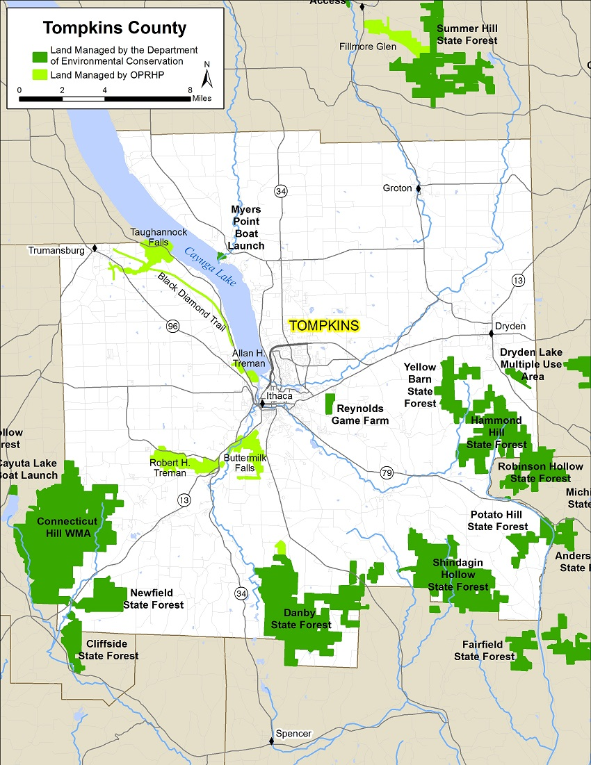 Tompkins County Map Nys Dept Of Environmental Conservation