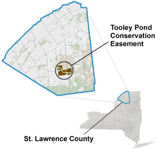 Tooley Pond Conservation Easement locator map