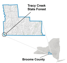 Tracy Creek State Forest locator map