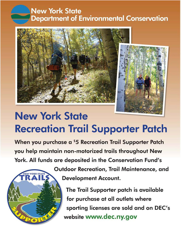 poster promoting sale of trails supporter patches