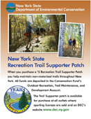 poster promoting trail supporter patch