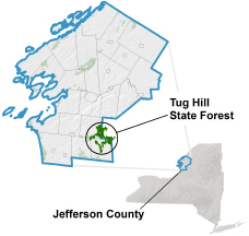 Tug Hill State Forest locator map