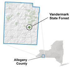 Vandermark State Forest locator map