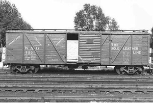 Old rail car on WAG railroad