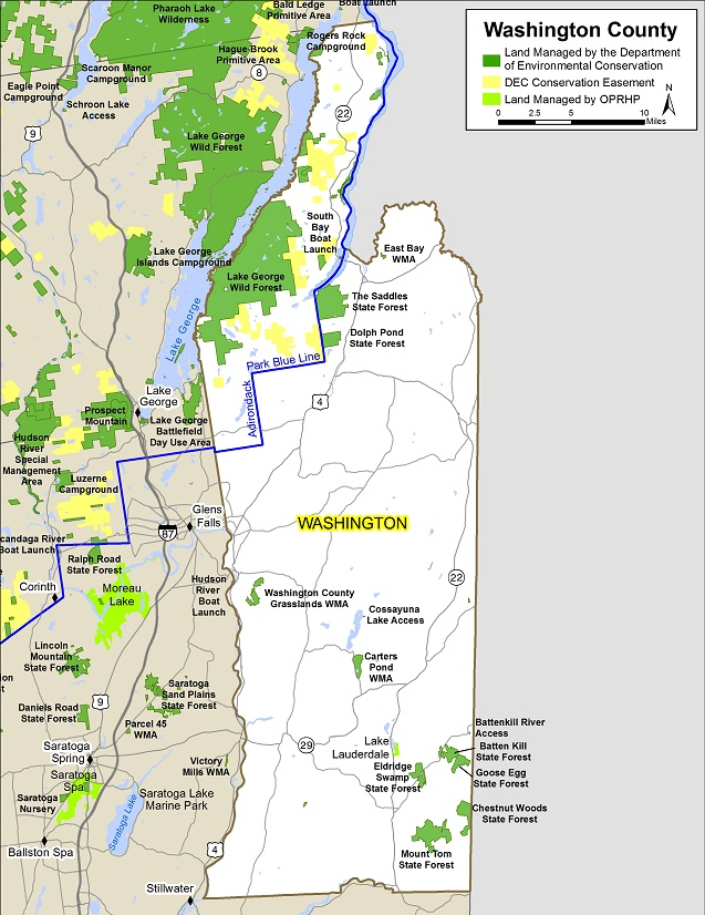 Washington County Map NYS Dept Of Environmental Conservation - Washington counties map
