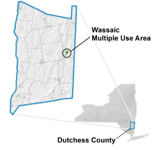 Wassaic Multiple Use Area locator map